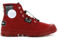 Červené štýlové členkové topánky pre dámy