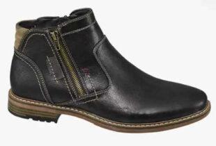 Čierna pánska členková obuv so zipsom Deichmann Venice