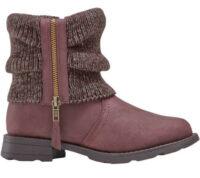 Členková dámska zimná obuv s pletenou vsadkou na zips