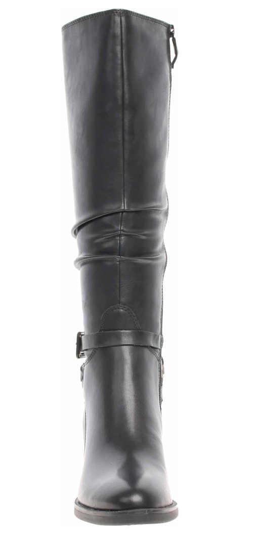 Moderné čierne vysoké čižmy