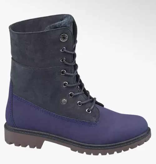 Modrošedá dámska vyššia zimná obuv Deichmann