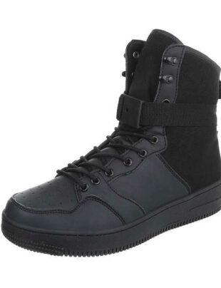 Pánske čierne členkové topánky