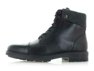 Pánske čierne kožené členkové zimné topánky Gant Nobel II