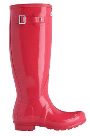 Ružové zimné jazdecké topánky vysoké čižmy Hunter