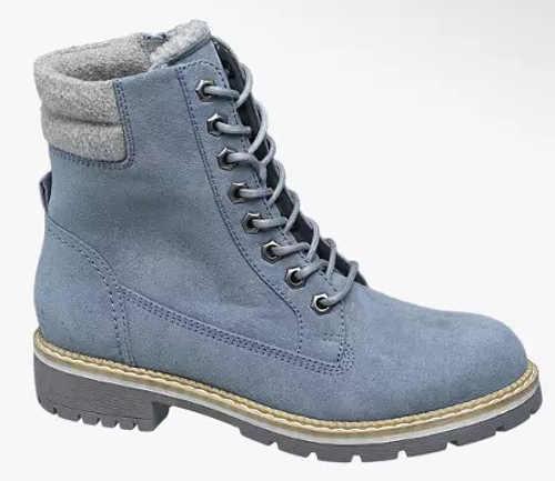 Svetlo modré dámske zimné topánky farmárky