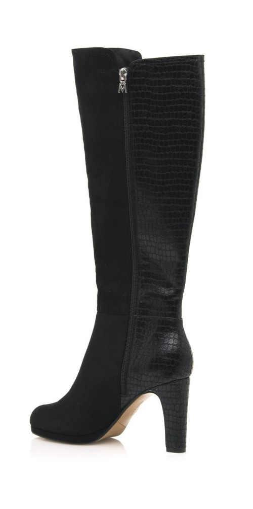 Čierne dámske vysoké čižmy