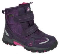 Fialové dievčenské zimné topánky Buggy na suchý zips