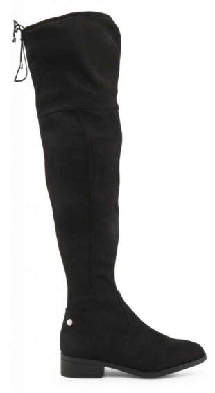 Vysoké čierne dámske čižmy nad kolená Xti lacno