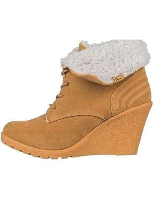 Dámske zimné topánky na kline s kožušinkou