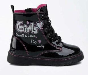 Krásne lesklé čierne zimné topánky Nelli Blu