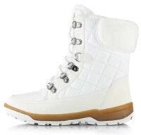 Biele dámske snehule Alpine Pro GERAINA s kožušinkou