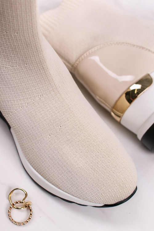 Členkové topánky v štýle ponožiek