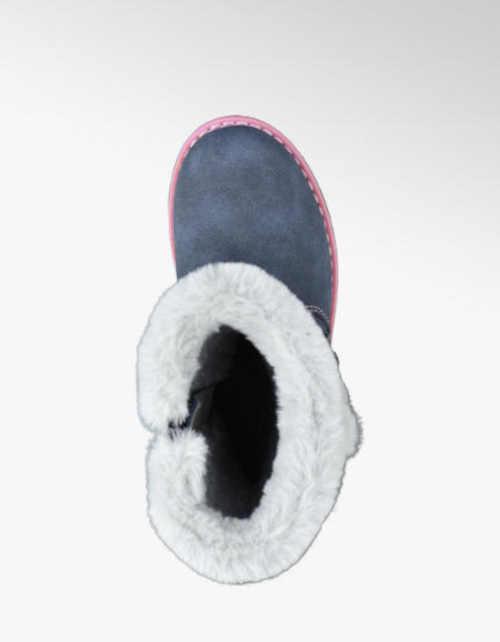 Dievčenské zimné modré topánky