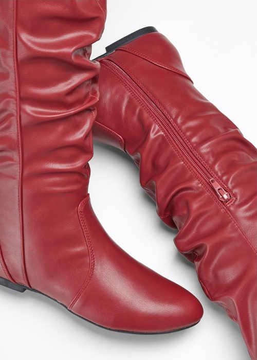 Lacné kožené dámske čižmy nad kolená