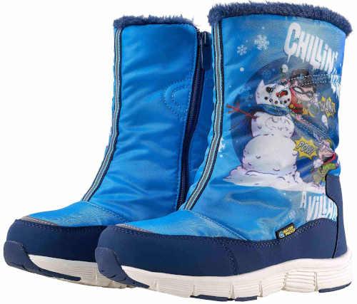 Modré detské zimné topánky