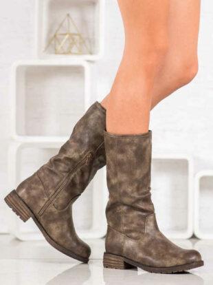 Štýlové topánky s bočným zipsom