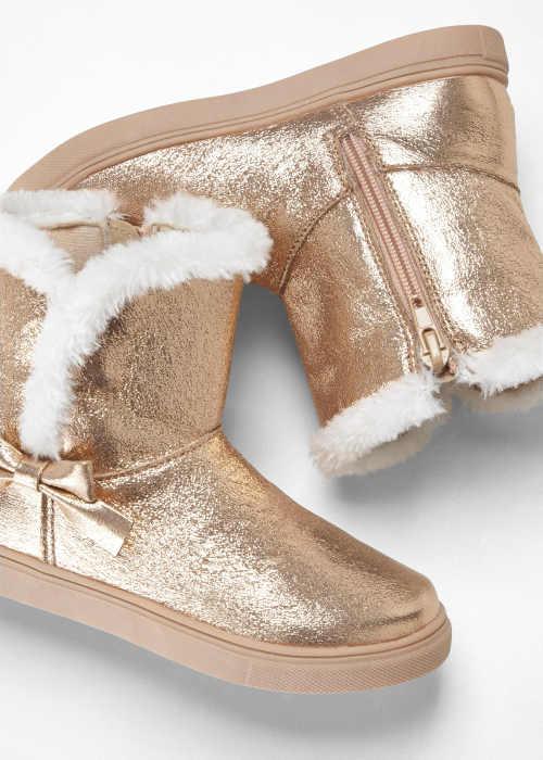 Teplé topánky s mašľou