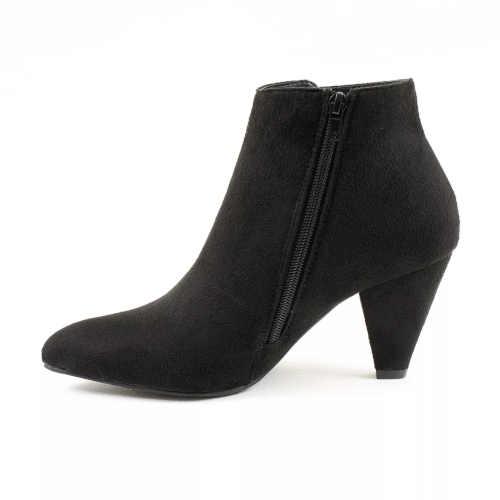 Čierne členkové topánky pre ženy