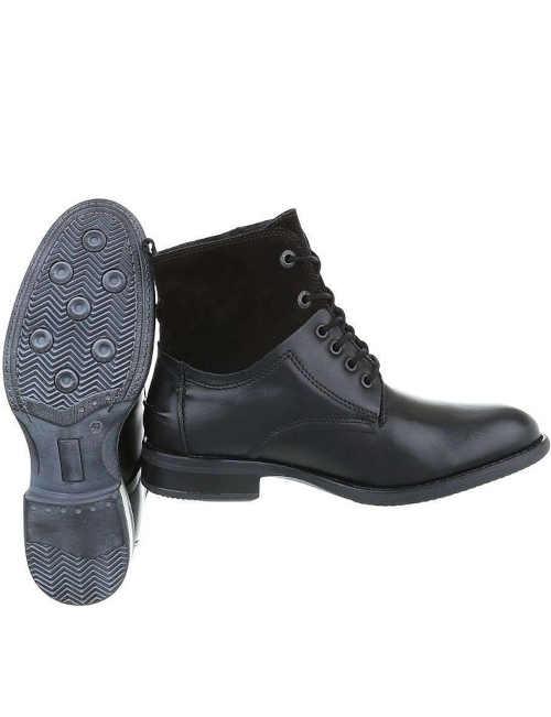 Čierne pánske kožené topánky