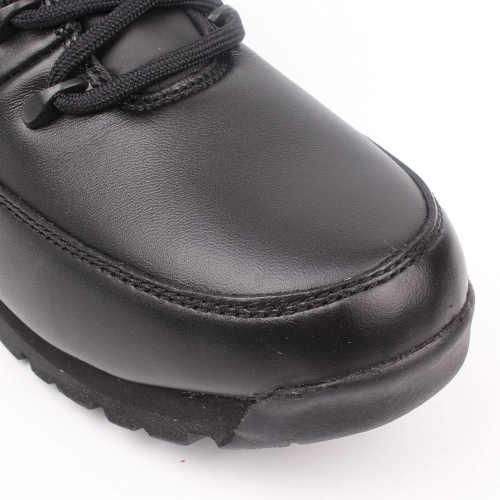 Čierne šnurovacie členkové topánky pre mužov