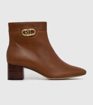 Dámske kožené topánky Ralph Lauren