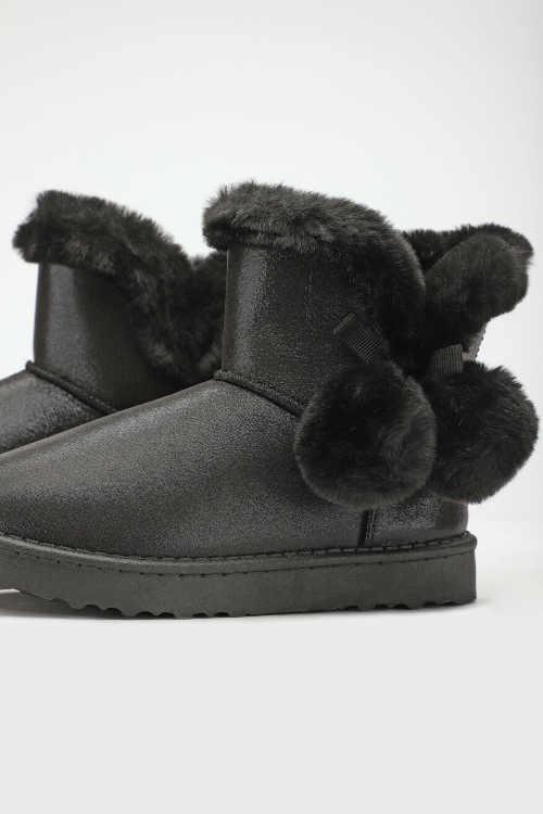 Detské zimné čierne topánky