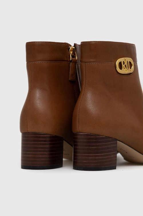 Hnedé kožené topánky Ralph Lauren