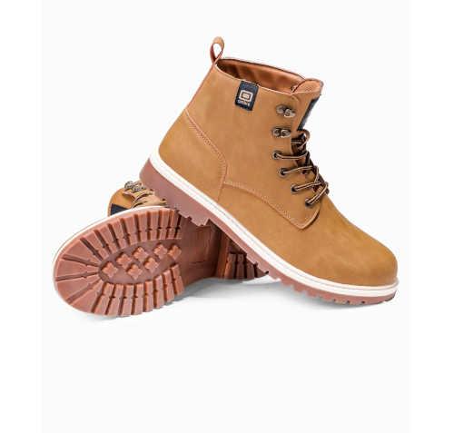 Hnedé pánske členkové topánky