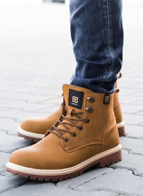 Hnedé šnurovacie pánske topánky