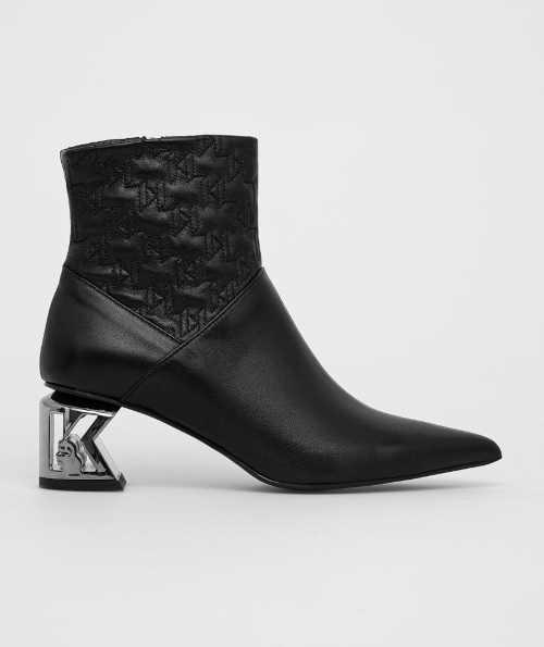 Kožené členkové topánky Karl Lagerfeld