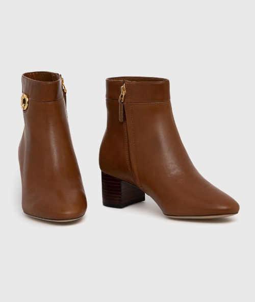 Kožené dámske členkové topánky
