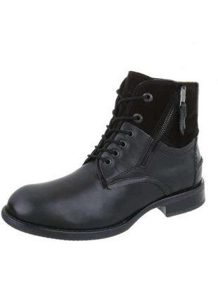 Kožené pánske štýlové členkové topánky