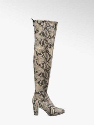 Topánky nad kolená so zvieracím vzorom